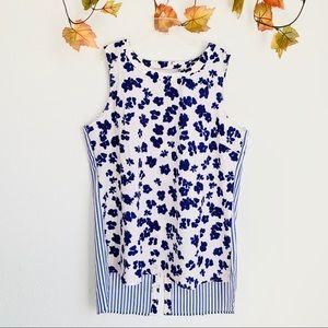CAbi sleeveless floral stripe